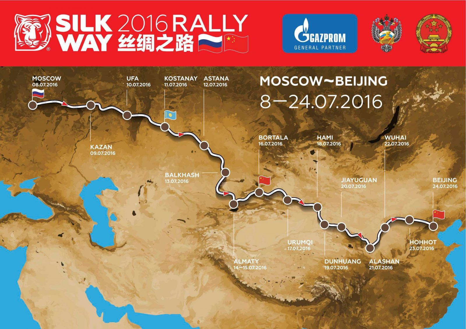 Silk Way Route Dakar Rally 2016