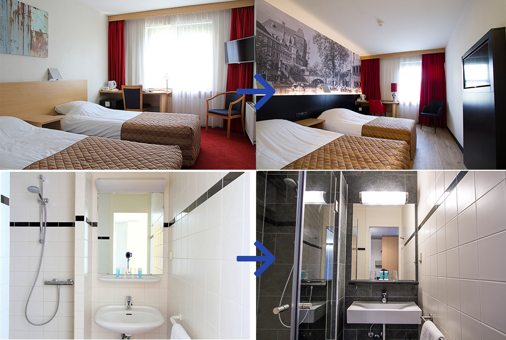 Renovatie Bastion Hotels comfort kamers