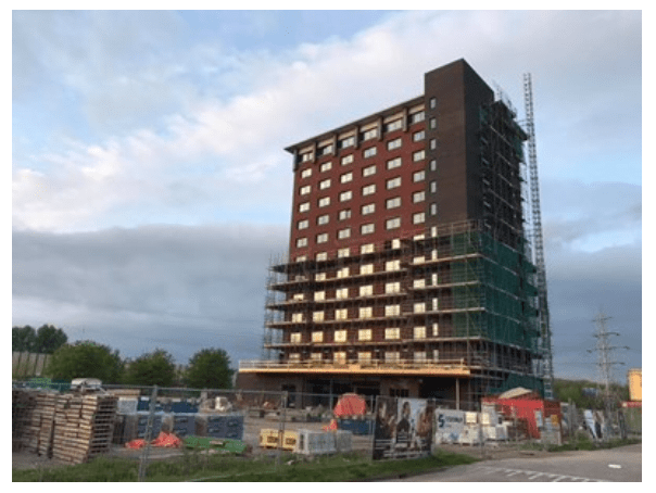 Construction Bastion Hotel Eindhoven